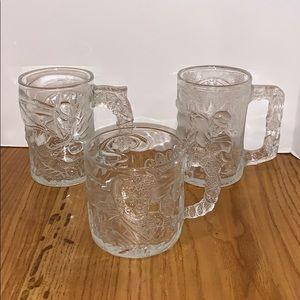 McDonald's vintage Batman glass mugs